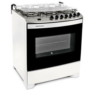Fogao-Brastemp-6-Bocas-BFS6NAB-Clean-com-acendimento-automatico-Branco