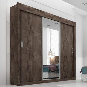 Roupeiro-Casal-Panan-Dune-Premium-Glass-3-portas-de-correr---Cafe