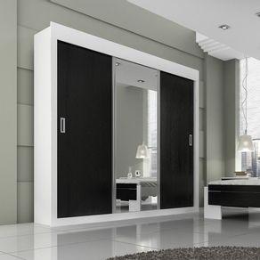 Roupeiro-Casal-Panan-Dune-Premium-Glass-3-portas-de-correr---Branco-Preto