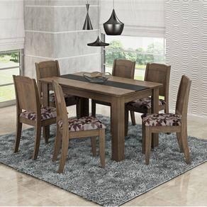 Mesa-de-Jantar-com-6-cadeiras-Cimol-Barbara-136x80-cm-Marrocos-com-Tecido-Floral