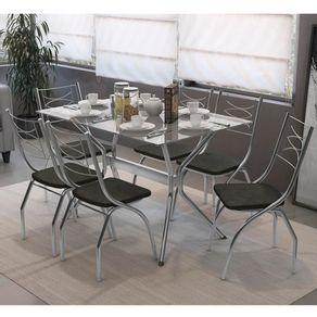 Kit-Mesa-de-Jantar-com-6-cadeiras-Kappesberg-Loire-Tampo-de-Vidro-160x80
