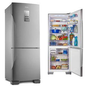 Geladeira-Panasonic-NR-BB53PV3XA-Bottom-Freezer-Frost-Free-425-Litros-Aco-Escovado