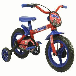 Bicicleta-Track---Bikes-Passeio-Aro-12-Quadro-em-Aco-Fixa-Azul-Vermelho