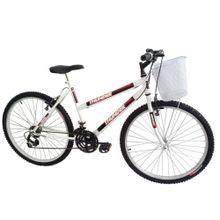 Bicicleta-Track---Bikes-Passeio-Aro-26-Quadro-em-Aco-18-Velocidades-Branco