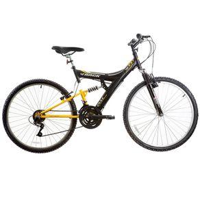 Bicicleta-Track---Bikes-Passeio-Aro-26-Quadro-em-Aco-18-Velocidades-Preto-Amarelo