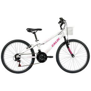 Bicicleta-Caloi-Passeio-Aro-24-Quadro-em-Aco-21-Velocidades-Branca