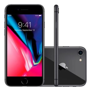 "iPhone-8-Apple-com-64GB-Tela-Retina-HD-de-47""-4G-NFC-iOS-11-12-MP---Cinza-espacial"