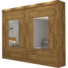 Roupeiro-Casal-Panan-Maria-Slide-Glass-2-Portas-de-Correr-com-espelho---Canela