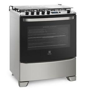 Fogao-Electrolux-5-Bocas-76RSS-Porta-Full-Glass-Timer-Digital-acendimento-automatico-Prata