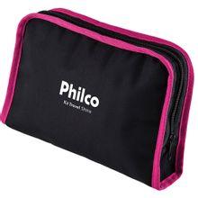 Secador---Prancha-de-Cabelo-Travel-Shine-Rosa-Philco---Bivolt