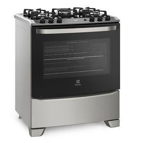 Fogao-5-Bocas-Eletrolux-76GSS-Mesa-em-vidro-com-ascendimento-automatico-Prata