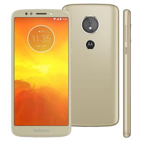 Smartphone-Motorola-Moto-E5-Tela-5.7--Quad-Core-16GB-Android-8-Camera-13MP-e-Frontal-5MP-Dourado