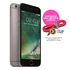"Kit-Iphone-6s-Apple-32GB-Cinza-Espacial-4G-Tela-4.7""-Cam.-12MP---Selfie-5MP-iOS-11-Proc.-A9---Cabo-Lightning-2m"