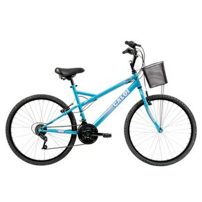 Bicicleta Caloi Passeio Aro 26, Quadro em Aço, 21 Velocidades, Branca