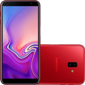 Smartphone-Samsung-Galaxy-J6-Plus-Quad-core-android-tela-6-13MP-4g-vermelho