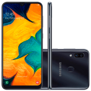 Smartphone-Samsung-Galaxy-A30-64GB-Tela-4-Processador-Octa-Core-Android-9-0-Camera-traseira-Dupla