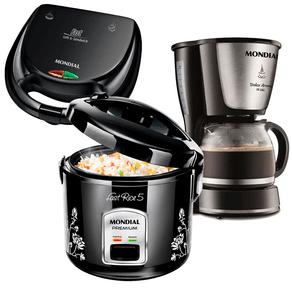 Conjunto-especial-aniversario-Sipolatti-Panela-de-arroz-Mondial-Fast-Rice5-Cafeteira-Dolce-aroma-18-xicaras-sanduicheira-Fast-Grill