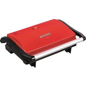 Sanduicheira-Grill-Arno-Compact-UNO-GUNO-com-chapa-antiaderente-vermelho