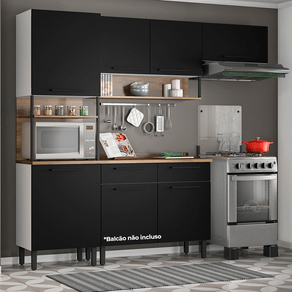 Kit-Itatiaia-cozinha-bali-2-pecas-preto