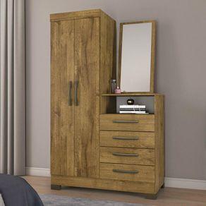 Comoda-Notavel-NT5040-Rustico-2-portas-e-4-gavetas-com-espelho
