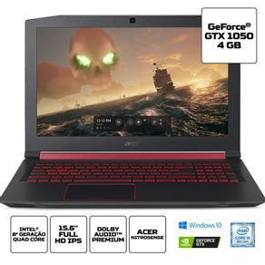 Notebook-Gamer-Acer-Aspire-Nitro-5-Tela-15.6--Intel-Core-i5-8-geracao-8GB-de-RAM-GeForce-GTX-1050-Windows-10