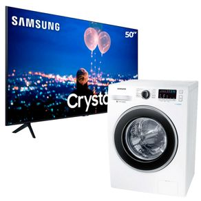 Smart-TV-50-UltraHD-Samsung-Lavadora-Samsung-11kg