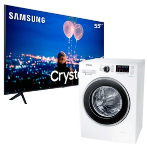 Smart-TV-55-UltraHD-Samsung-Lavadora-Samsung-11kg