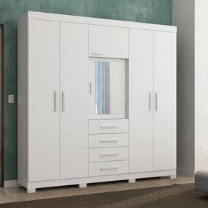 roupeiro-albatroz-virtus-branco-6-portas-4-gavetas-e-com-espelho