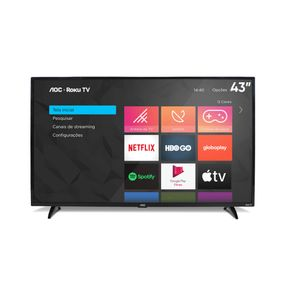 Smart-TV-LED-AOC-43S5195-Roku-TV-43-Full-HD-com-Wi-fi-Controle-Remoto-com-Atalhos-Roku-Mobile-Miracast-Entradas-HDMI-e-USB