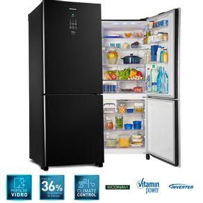 Refrigerador-Panasonic-Black-Glass-Inverter-425-Litros-Frost-Free