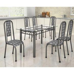 Conjunto-de-mesa-Madmelos-Paula-com-6-cadeiras-160x80cm-com-tampo-de-vidro-