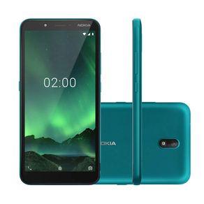 Smartphone-Nokia-C2-NK010-32GB--16GB---16GB-de-Cartao--Tela-57-Camera-5MP-Android-9-verde-ciano--