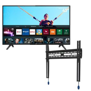 Combo-Smart-TV-LED-43-Philips-43PFG5813-Full-HD---Suporte-Fixo-de-Parede-ELG-N01V4-TVs-LED-e-Curva-de-32-a-65