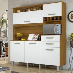 Cozinha-Nesher-Smart-05-Portas-e-02-Gavetas-com-Nicho-para-Microondas-e-Adega-