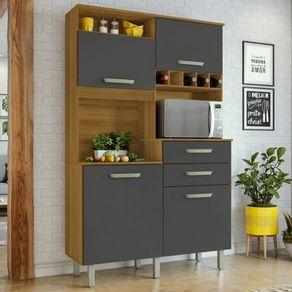 Cozinha-Nesher-Smart-JR-4-Portas-2-Gavetas-com-Nicho-para-Forno-e-Adega-