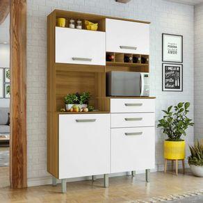 Cozinha-Nesher-Smart-JR-4-Portas-2-Gavetas-com-Nicho-para-Forno-e-Adega-freijo-com-branco-