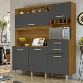 Cozinha-Nesher-Smart-05-Portas-e-02-Gavetas-com-Nicho-para-Microondas-e-Adega-freijo-com-grafite-