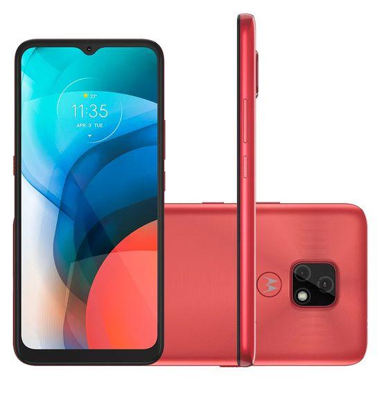 """Smartphone-Motorola-Moto-E7-64GB-4GB-RAM-Tela-de-6.5""""-Camera-Traseira-Dupla-Android-10-e-Processador-Octa-Core--cobre"""
