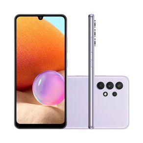 Smartphone-Samsung-Galaxy-A32-Tela-Infinita-6.4-128GB-4GB-RAM-Camera-Traseira-Quadrupla-Octa-Core-violeta-