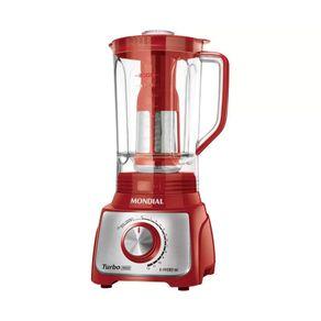 Liquidificador-Mondial-Turbo-Inox-L1100-RI-1100W-127V-Vermelho-com-Filtro-