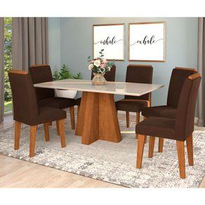 mesa-patricia-6-cadeiras-thais--savana-off-white