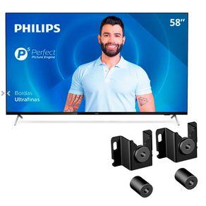 Smart-TV-LED-Philips-58-4K-UHD-58PUG7625-78-com-HDR10---Gratis-Suporte-para-TVs-ELG-Fixo-Genius