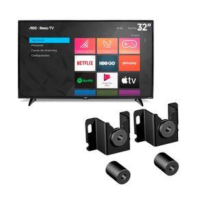 Smart-TV-LED-AOC-32-HD-32S5195-Roku-TV-Suporte-para-TVs-ELG-Fixo-Genius---TVs-de-14-a-84