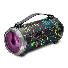 Caixa-de-Som-Portatil-Pulse-Bazooka-Paint-Blast-II-SP362-120W-com-Bluetooth-USB-Micro-SD-e-Radio-FM