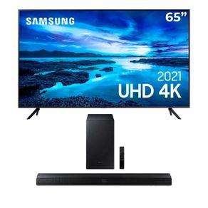 Samsung-Smart-TV-65-UHD-4K-65AU7700-Processador-Crystal-4K-Gratis-Soundbar-Samsung-HW-T555-com-2.1-canais-potencia-de-320W